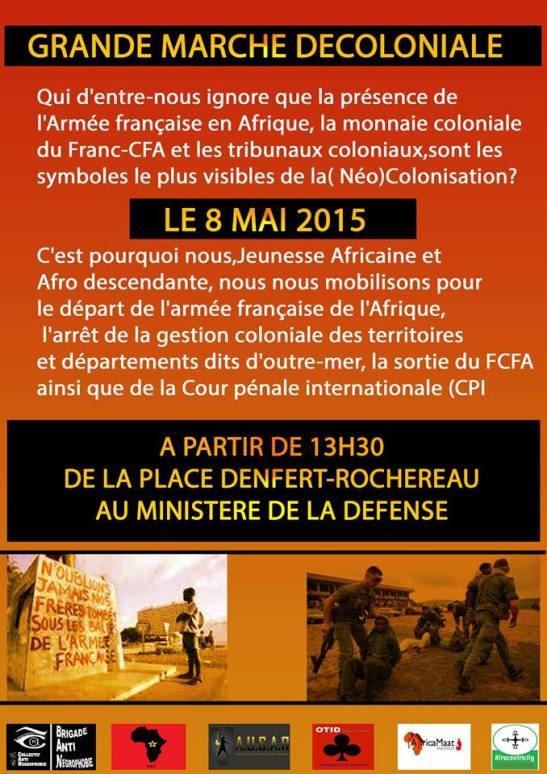 AFICHE MARCHE UDC FRANCE
