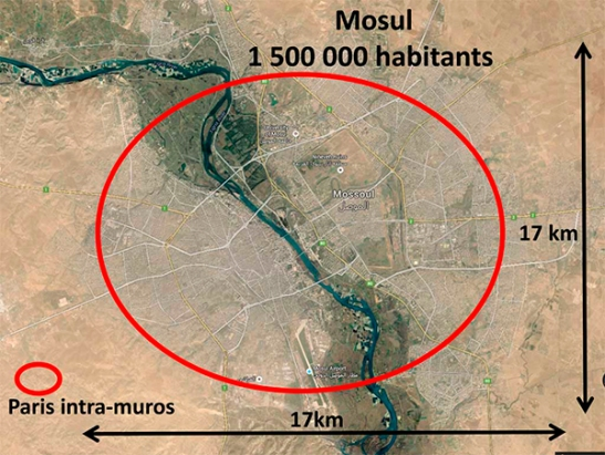Carte Mossoul