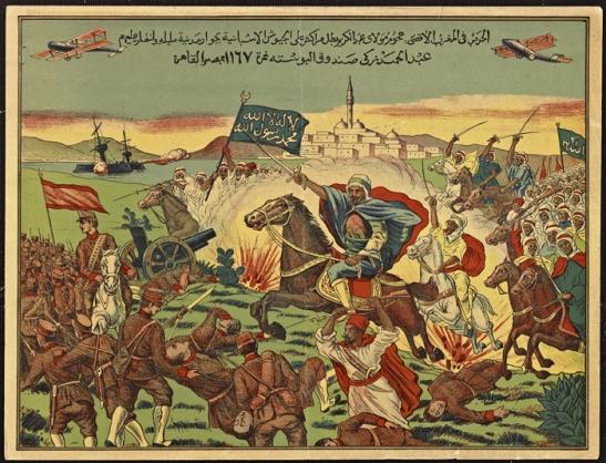 Abdelkrim rejetant les Espagnols