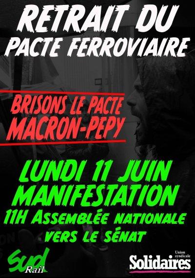 Manif Paris Lundi 11 juin