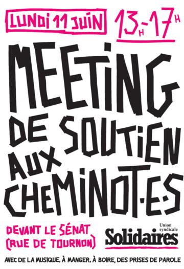 meeting de solidarité aux cheminotEs 11-06-2018