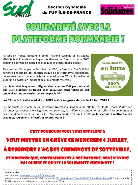 Tract UF IDF Solidarité cheminote