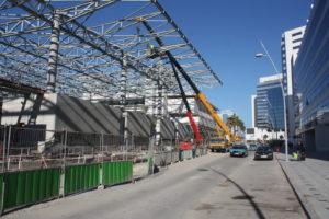 Tanger la gare en construction