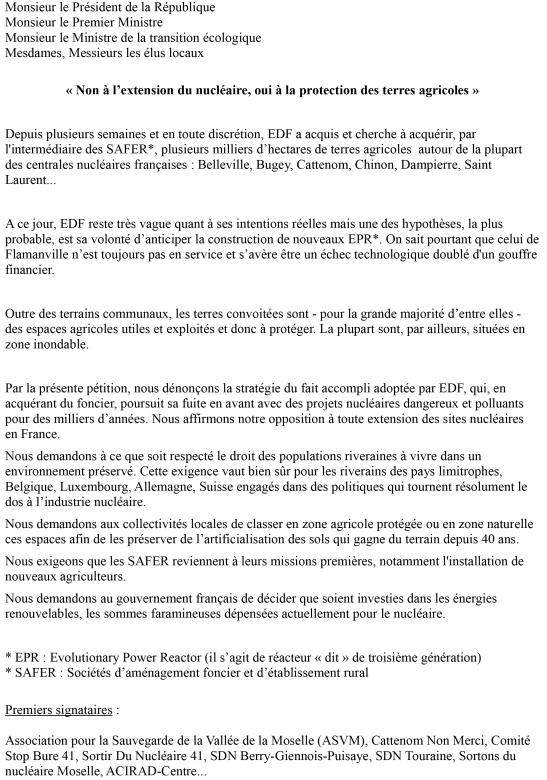 pétition terres et edf-1