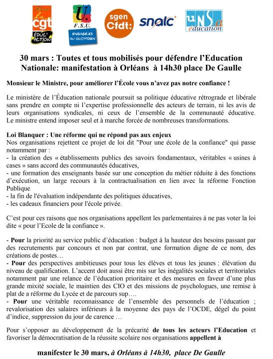 Appel commun bis Loiret