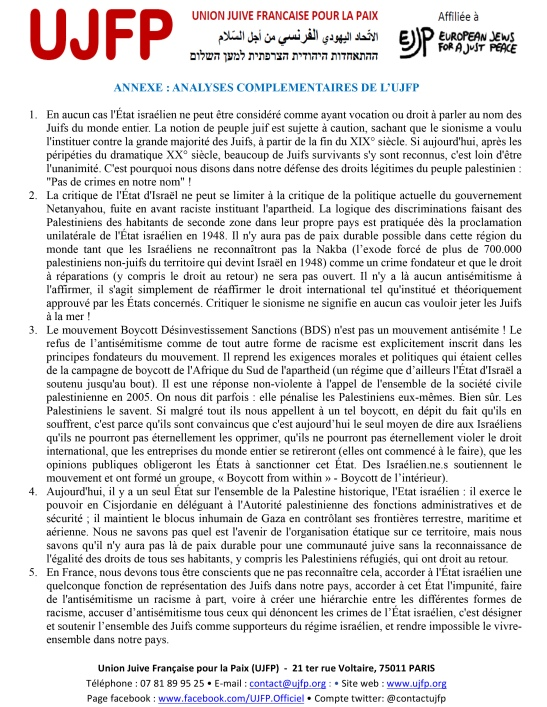 Microsoft Word - Annexe lettre UJFP aux députés juin 2019 V2.d