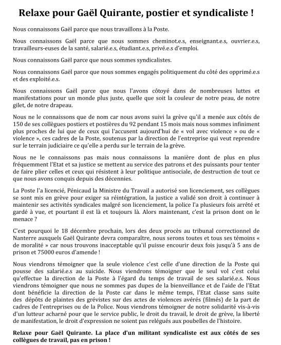 Microsoft Word - Relaxe pour Gaël Quirante