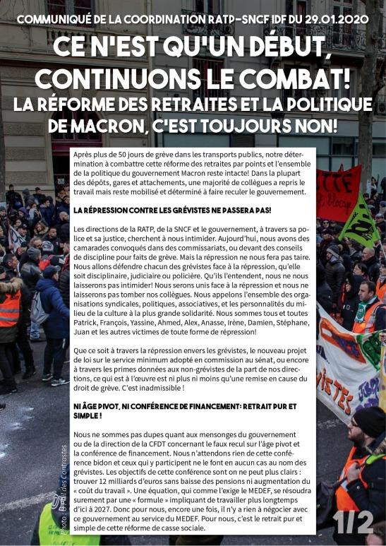 Communiqué Coordination RATP SNCF 29-01-20 1