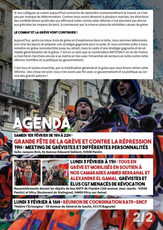 Communiqué Coordination RATP SNCF 29-01-20 2