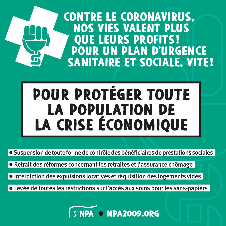 Visuel coronavirus crise économique