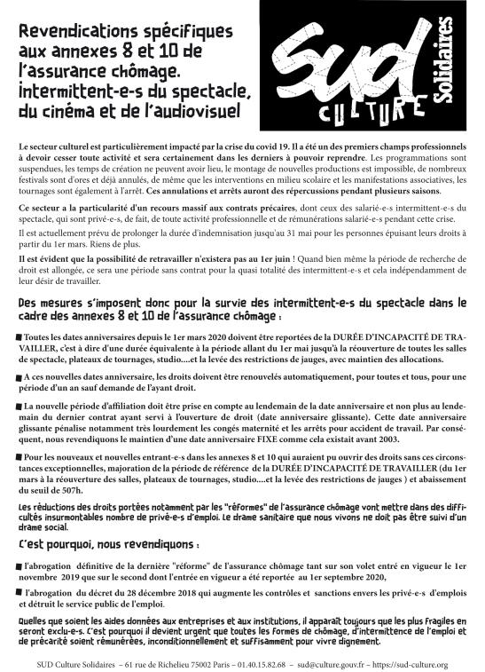 SUD Culture_revendications spŽcifiques aux annexes 8 et 10_24.0